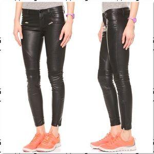 BlankNYC Vegan Leather Black Moto Jean Pants 27